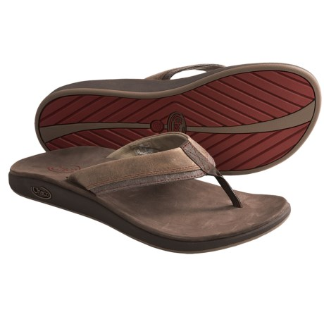 Chaco Fontas Sandals - Leather, Flip-Flops (For Men) in Fossil