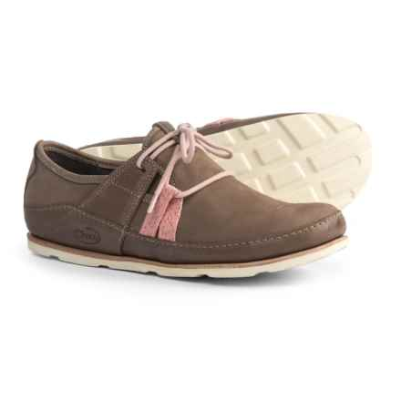 Chaco Harper Lace Shoes - Leather (For Women) in Caribou - Closeouts