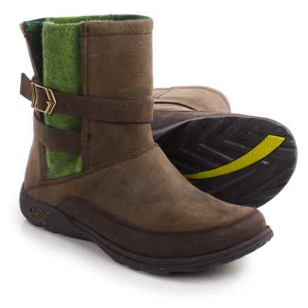Chaco Hopi Boots - Leather (For Women) in Moss - Closeouts