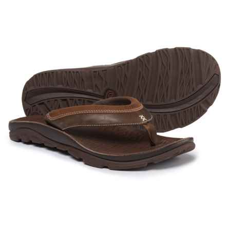 Chaco Kirkwood Flip-Flops - Leather (For Men) in Caramel - Closeouts