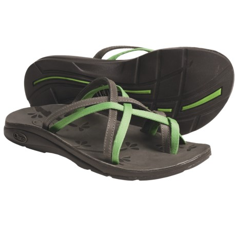 Chaco Leather Flip Ecotread Sandals - Recycled Materials (For Women) in Kiwi
