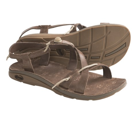 Chaco Local Ecotread Sport Sandals - Leather (For Women) in Bison