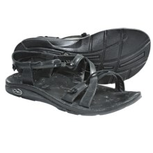 Chaco Local Ecotread Sport Sandals - Leather (For Women) in Black - Closeouts