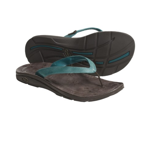 Chaco Locavore Ecotread Sandals - Leather-Recycled Materials Flip-Flops (For Women) in Mystic