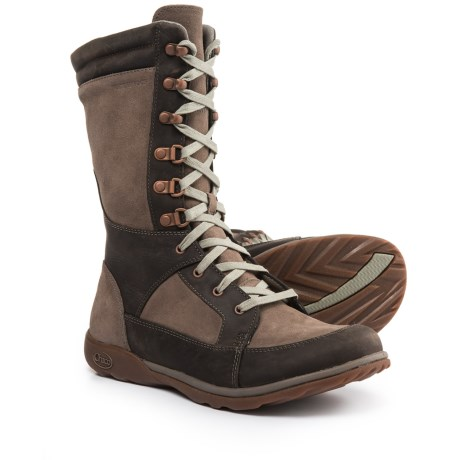 Chaco Lodge Boots - Waterproof, Leather (For Women) in Fossil