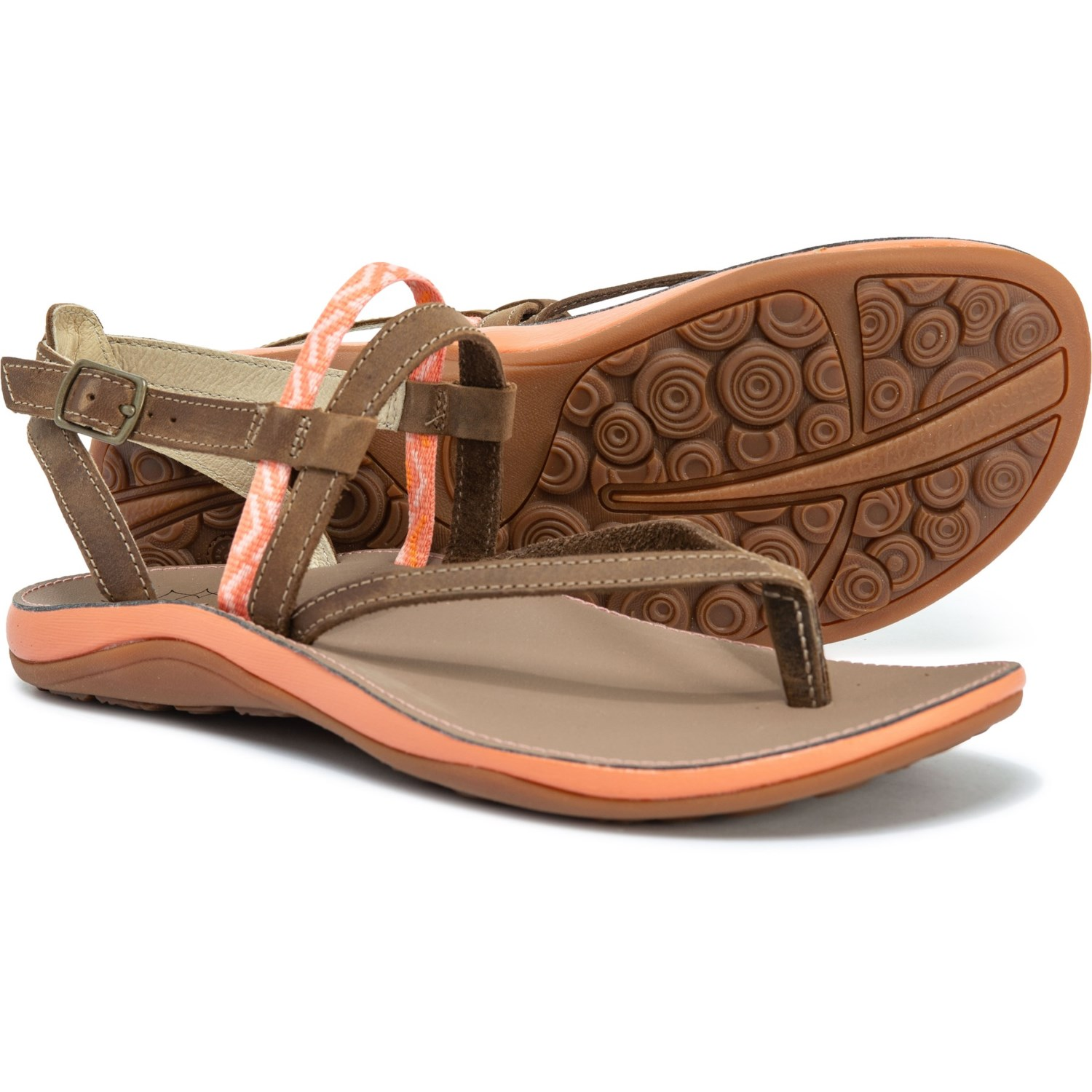 52bc601b6e9c Chaco Loveland Strappy Sandals - Leather (For Women) in Stepped Peach ...