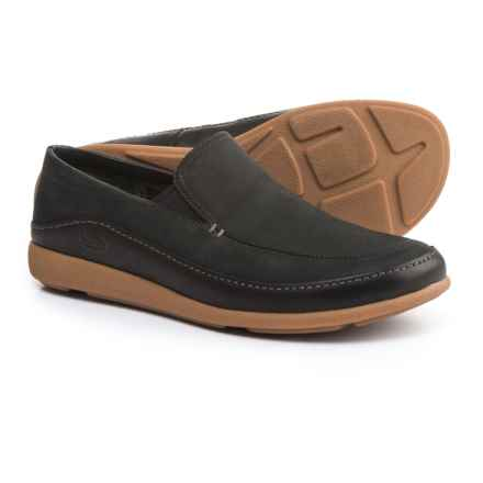 Chaco Montrose Loafers - Leather, Slip-Ons (For Men) in Black - Closeouts