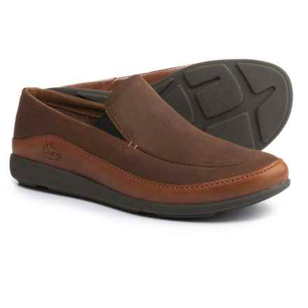 Chaco Montrose Loafers - Leather, Slip-Ons (For Men) in Rust - Closeouts