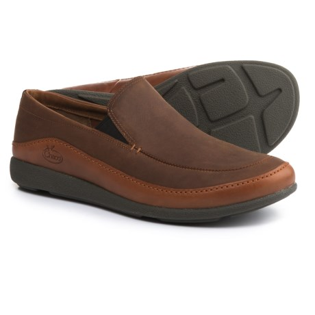 Chaco Montrose Loafers - Leather, Slip-Ons (For Men) in Rust
