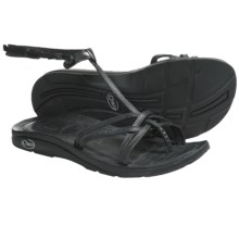 Chaco Native Ecotread Sandals - Leather (For Women) in Black - Closeouts