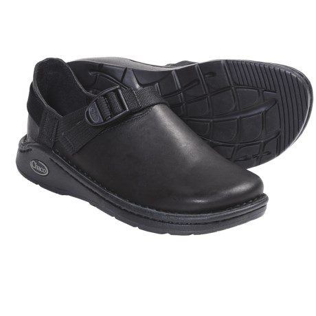 Chaco Pedshed Gunnison Clogs - Leather (For Women) in Black