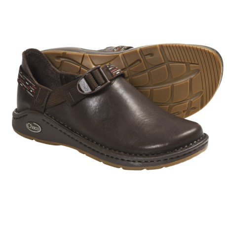 Chaco Pedshed Gunnison Clogs - Leather (For Women) in Chocolate Brown/Stitch Brown