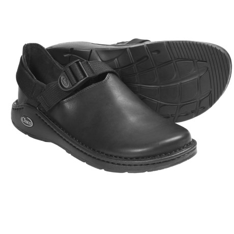 Chaco PedShed Shoes - Waxed Suede (For Men) in Black