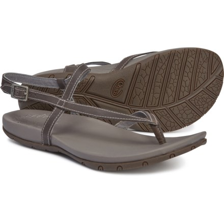 28eb7e180f3b Chaco Rowan Sandals - Leather (For Women) in Grey