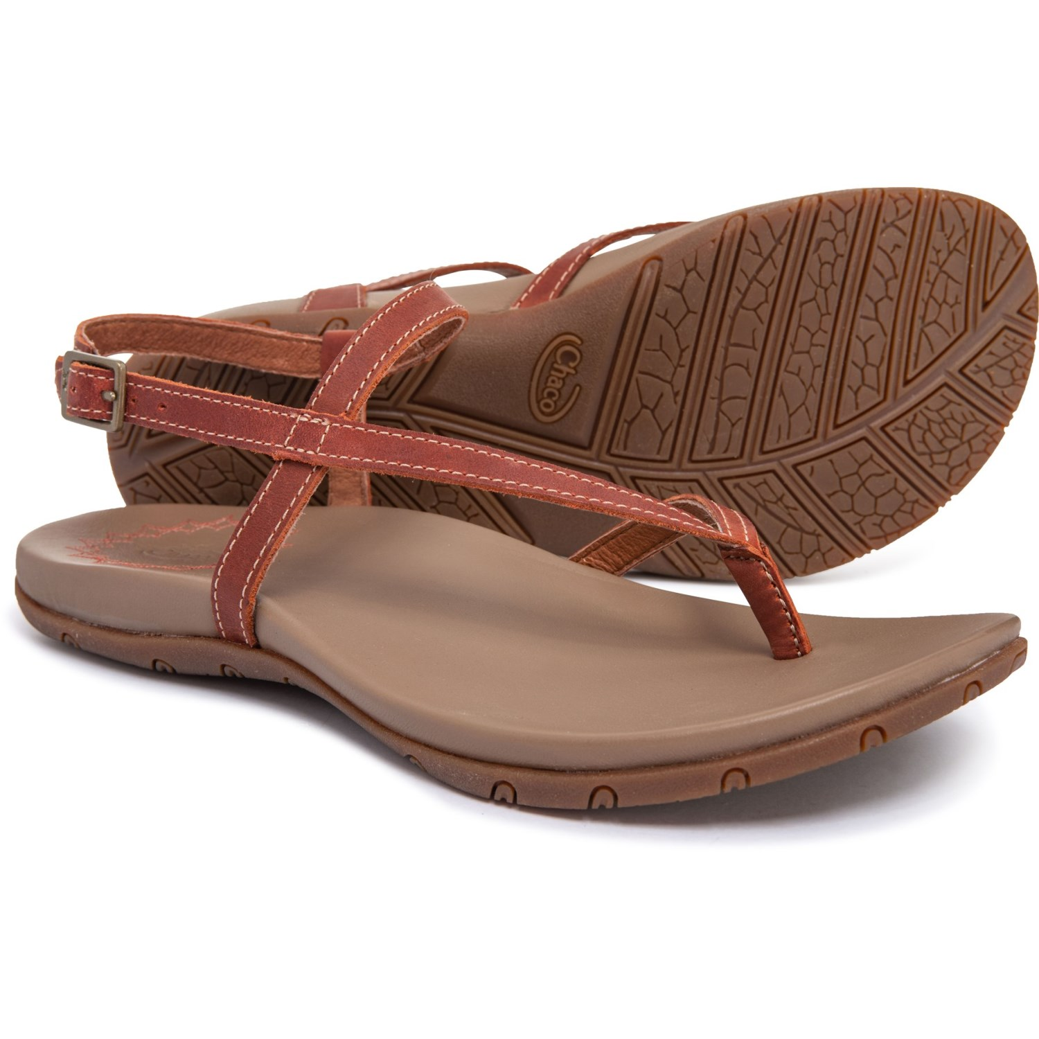 adafce7049ea Chaco Rowan Thong Sandals - Leather (For Women) in Sienna ...