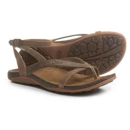 Chaco Sofia Gladiator Sandals - Leather (For Women) in Dark Earth - Closeouts