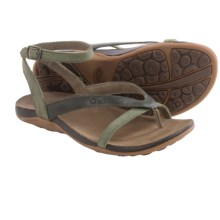Chaco Sofia Gladiator Sandals - Leather (For Women) in Grape Leaf - Closeouts