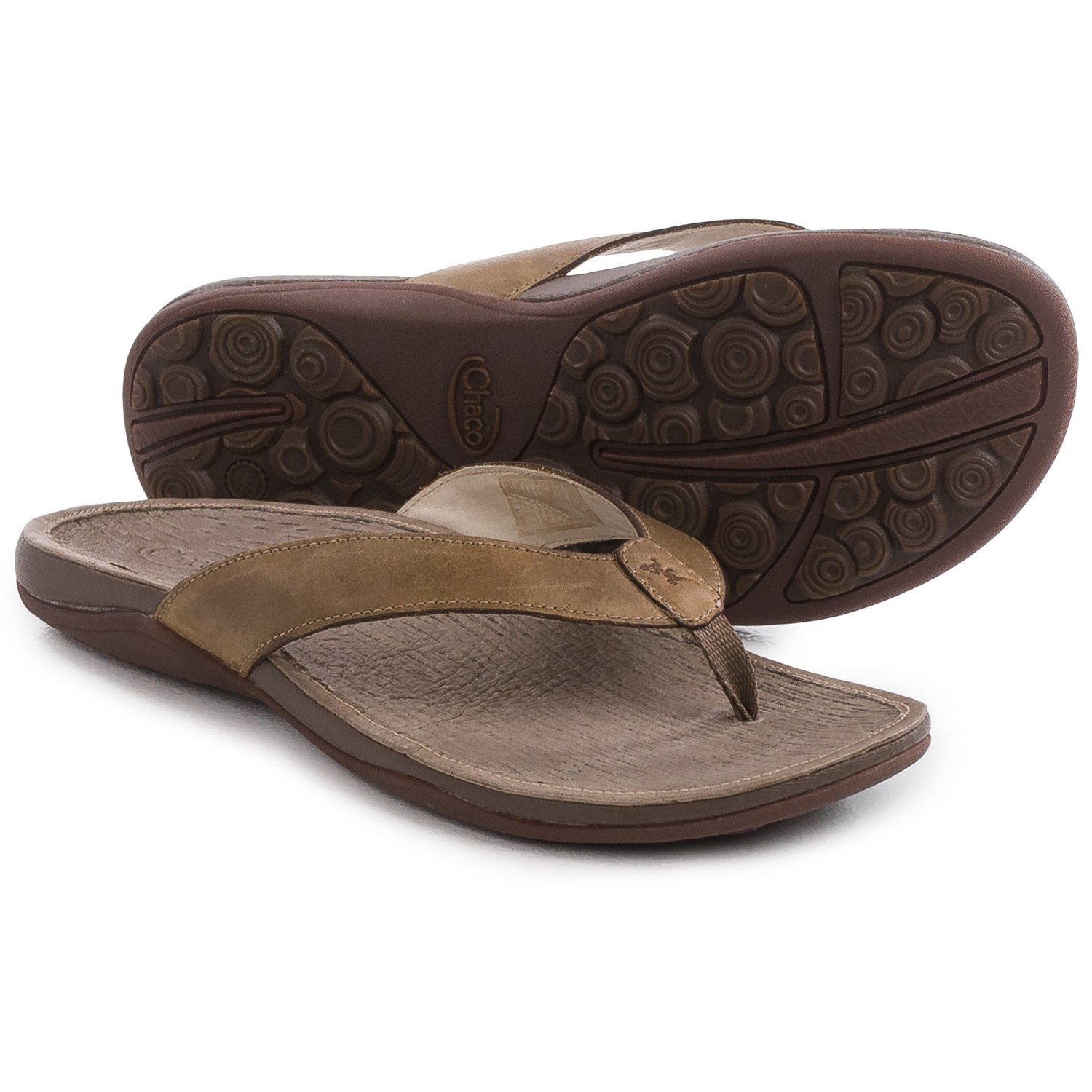 Womens sandals chaco - Chaco Sol Flip Flops Leather For Women In Caribou