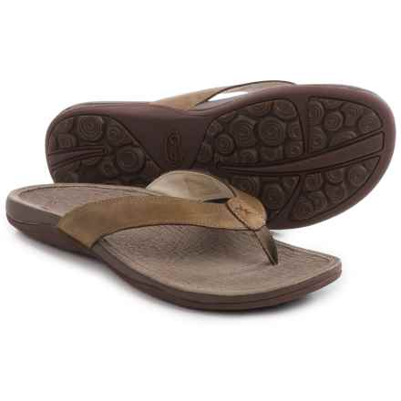 Chaco Sol Flip-Flops - Leather (For Women) in Caribou - Closeouts