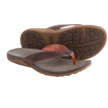 Chaco Sol Flip-Flops - Leather (For Women) in Mecca - Closeouts