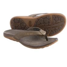 Chaco Sol Flip-Flops - Leather (For Women) in Metallic - Closeouts
