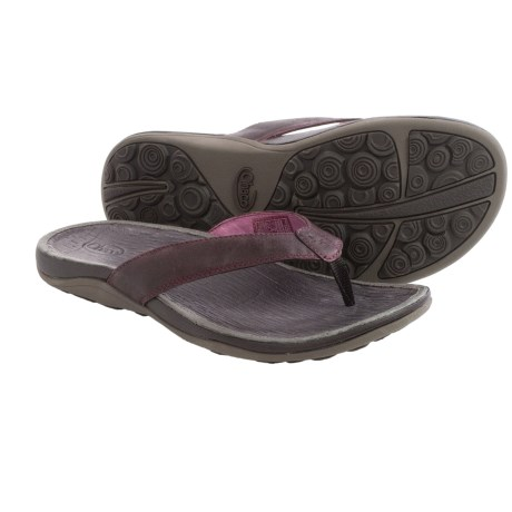 Chaco Sol Flip Flops Leather (For Women)