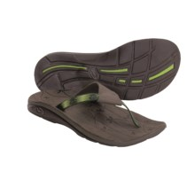 Chaco Switch Thong Sandals - Leather, Recycled Materials (For Women) in Field Green - Closeouts