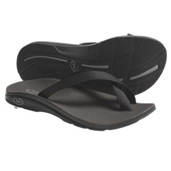 Chaco Tanana EcoTread Thong Sandals - Flip-Flops, Reycled Materials (For Women) in Black