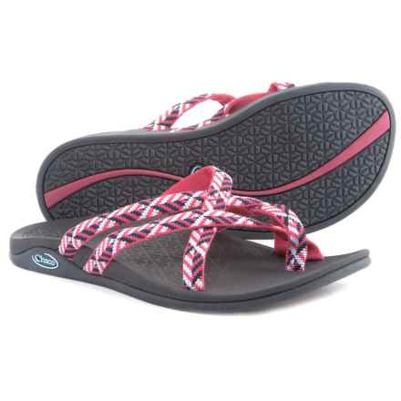 Chaco Tempest Cloud Sandals (For Women) in Oragami Berry - Closeouts
