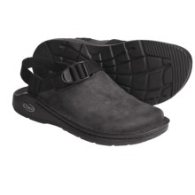 Chaco Toe Coop Clogs - Leather  (For Women) in Black - Closeouts