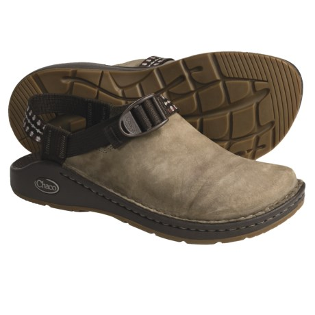 Chaco Toe Coop Clogs - Leather  (For Women) in Shitake/Multi Brown