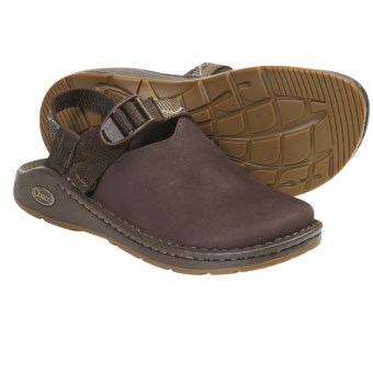 Chaco Toe Coop Clogs - Leather  (For Women) in Chocolate Brown/Craft
