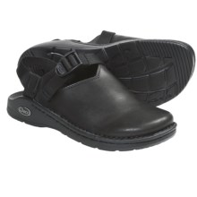 Chaco Toe Coop Clogs - Leather  (For Women) in Smooth Black - Closeouts