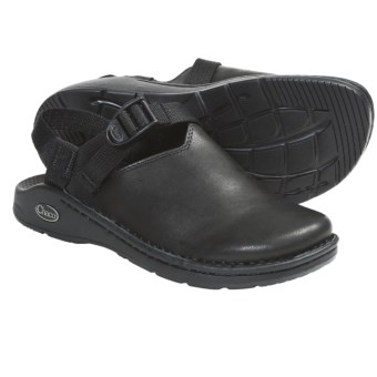 Chaco Toe Coop Clogs - Leather  (For Women) in Smooth Black