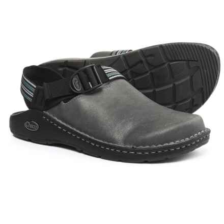 Chaco ToeCoop Leather Shoes - Vibram® Outsole, Slip-Ons (For Men) in Gunmetal - Closeouts