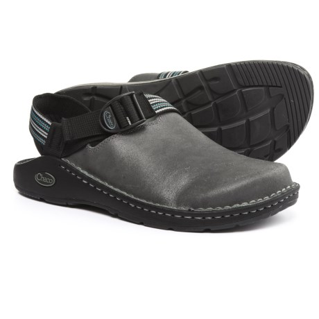 Chaco ToeCoop Leather Shoes - Vibram® Outsole, Slip-Ons (For Men) in Gunmetal