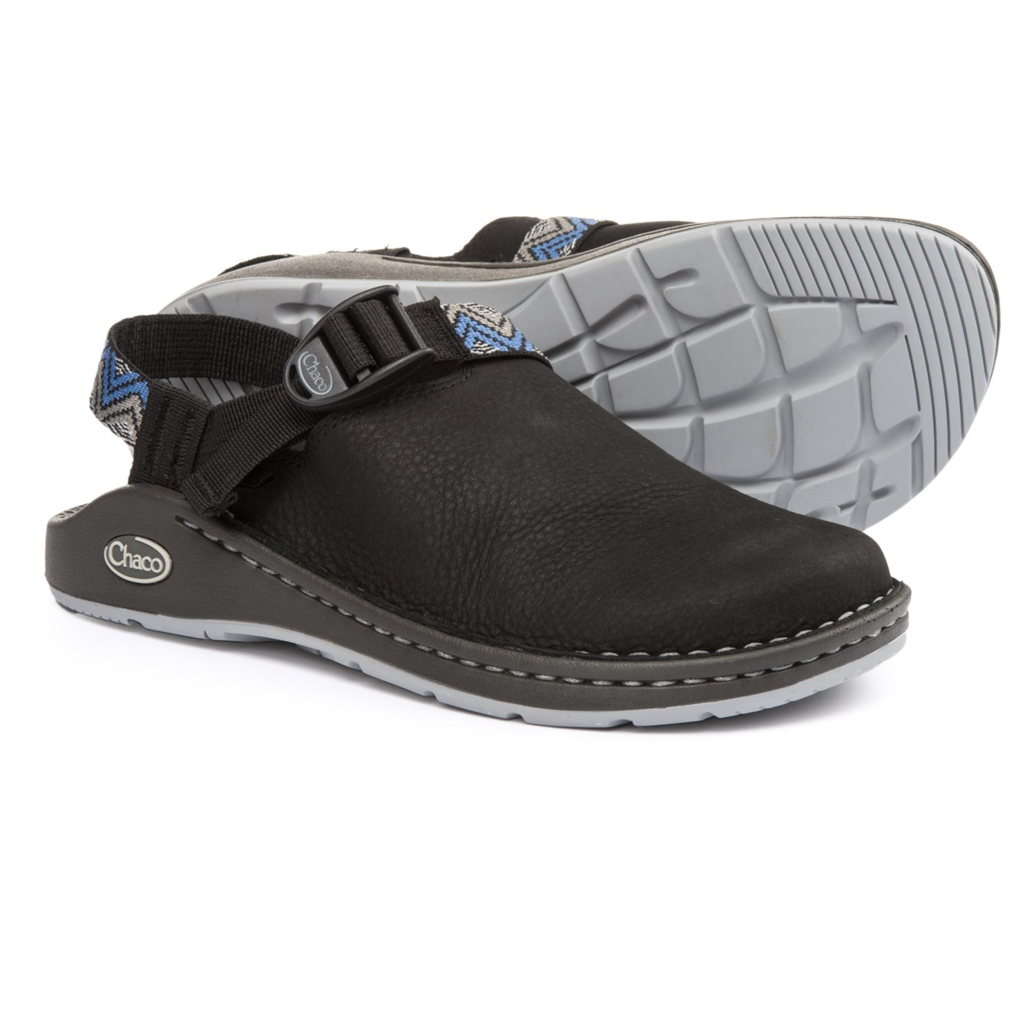 Chaco Toecoop Shoes Leather Slip Ons For Women In Black