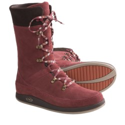 Chaco Uma Boots - Waterproof, Wool-Suede (For Women) in Incense