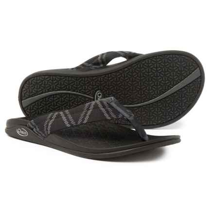 Chaco Waypoint Cloud Flip-Flops (For Men) in Glitch Black - Closeouts