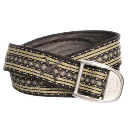 """Chaco Webbing Belt - 1-1/4"""" (For Men and Women) in Marigold - Closeouts"""