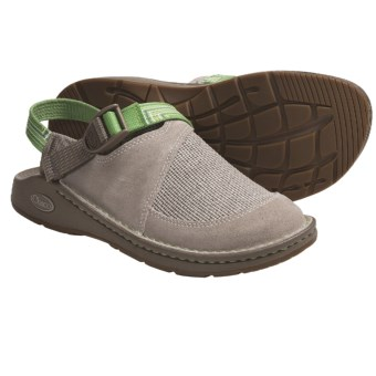 Chaco Woodstock Clogs (For Women) in Stone/Longitude