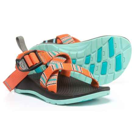 Chaco Z1 EcoTread Sandals (For Little and Big Kids) in Banded Coral - Closeouts