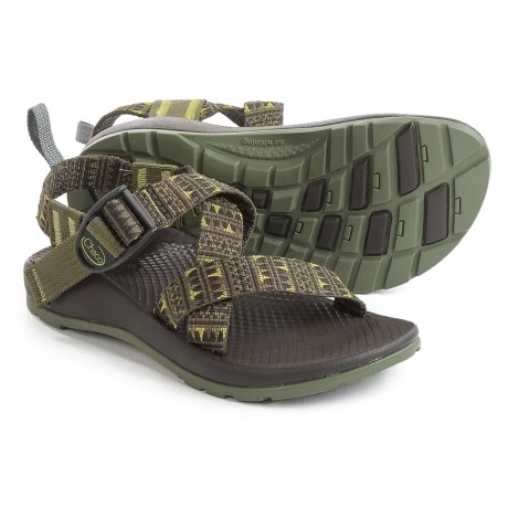 Chaco Z1 EcoTread Sandals (For Little and Big Kids) in Forest Points