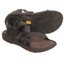 Chaco Z1 Leather Sandals (For Men) in Chocolate Brown - Closeouts