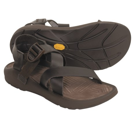 Chaco Z1 Leather Sandals (For Men) in Chocolate Brown