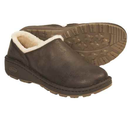 Chaco Zaagh Baa Shoes - Leather (For Women) in Chocolate Brown - Closeouts
