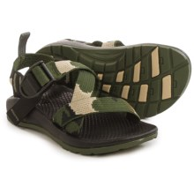 Chaco Z/1 Ecotread Sport Sandals (For Little and Big Kids) in Camo - Closeouts