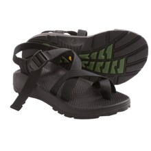 Chaco Z/2 Unaweep Sandals - Vibram® Outsole (For Men) in Black W/Black/Green Tread - Closeouts