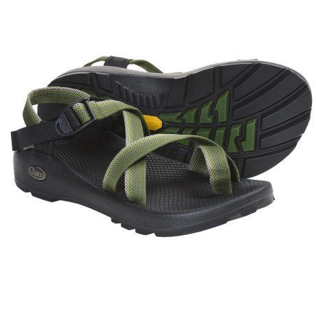 Chaco Z/2 Unaweep Sandals - Vibram® Outsole (For Men) in Black W/Black/Green Tread