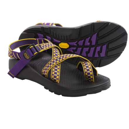 Chaco Z/2® Unaweep Tracks Sport Sandals - Vibram® Outsole (For Men) in Gold/Purple - Closeouts